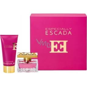 Escada Especially parfémovaná voda pro ženy 30 ml + tělové mléko 50 ml, dárková sada