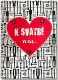 Albi Hrací přání do obálky K svatbě Šrouby a matice Mandrage 14,8 x 21 cm