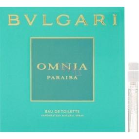 Bvlgari Omnia Paraiba toaletní voda pro ženy 1,5 ml s rozprašovačem, Vialka