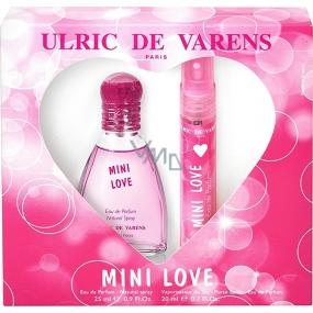 Ulric de Varens Mini Love parfémovaná voda pro ženy 25 ml + parfémovaná voda do kabelky 20 ml, dárková sada