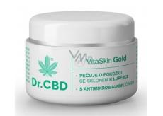 Dr. CBD VitaSkin Gold Konopný balzám pro pokožku se sklonem k ekzému a lupénce 30 ml