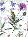 Albi Diář 2020 denní Luční květy 17 x 12,6 x 2,4 cm