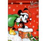 Nekupto Dárková papírová taška velká 33 x 26 x 13 cm Vánoční Mickey Mouse 1188 WLGL