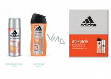 Adidas Adipower antiperspirant deodorant sprej pro muže 150 ml + sprchový gel 250 ml, kosmetická sada