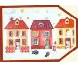 Nekupto Vánoční kartičky na dárky Tři domečky 5,5 x 7,5 cm 6 kusů