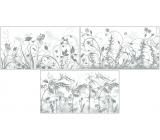 Room Decor Okenní fólie stínicí s travinami a mléčným podkladem 54,5 x 30 cm