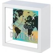 Nekupto Dárková pokladnička Na dovolenou 16 x 16 x 6 cm