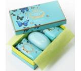 Castelbel Butterfly - Citrusy, zimolez a magnólie toaletní mýdlo 3 x 150 g, kosmetická sada