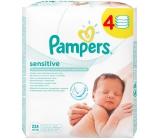 Pampers Sensitive vlhčené ubrousky pro citlivou pokožku dětí 4 x 56 kusů