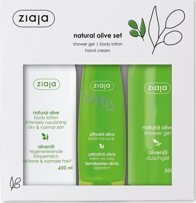 Ziaja Oliva sprchový gel 500 ml + tělové mléko 400 ml + krém na ruce 80 ml, kosmetická sada