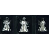 Andělé ze skla sada 3 ks kapky a kamínky 4,5 cm
