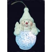 Sněhulák svítící LED 12 cm, 1 kus