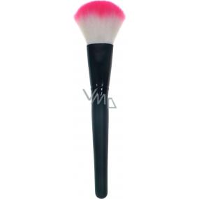 Kosmetický štětec na pudr černý s bílo-růžovou špičkou 30350 19 cm
