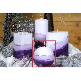 Lima Verona svíčka fialová koule 100 mm 1 kus