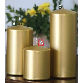 Lima Metal Serie svíčka zlatá válec 80 x 100 mm 1 kus