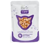 Brit Care Kitten Kousky masa, kuře se sýrem pro koťata kapsička 80g