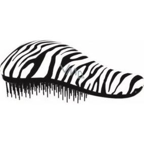 Paves Detangler Kartáč na vlasy žíhaný bílo-černý 18,5 cm