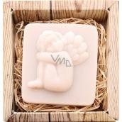 Bohemia Gifts & Cosmetics Anděl sedící ručně vyráběné toaletní mýdlo v krabičce 80 g