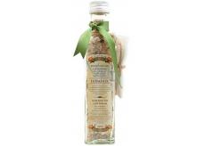 Bohemia Gifts & Cosmetics Heřmánek sůl do koupele s bylinami heřmánek, mateřídouška a měsíček a filtračním sáčkem 260 g skleněný obal