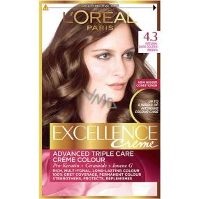 Loreal Paris Excellence Creme barva na vlasy 4.3 Hnědá zlatá