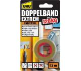 Uhu Doppelband Extrem 120 kg super pevná oboustranná lepicí páska do interiérů i exteriérů 1,5 m