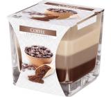 Bispol Coffee - Káva tříbarevná vonná svíčka sklo, doba hoření 32 hodin 170 g