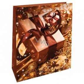 Nekupto Gift paper bag 23 x 18 x 10 cm Christmas brown gift WBM 1929 01