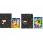 Škrabací obrázky Princezna 16,5 x 21 cm 2 archy
