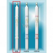 Lima Kostelní křestní svíčka bílá se zlatým zdobením č. 1001 25 x 360 mm 1 kus