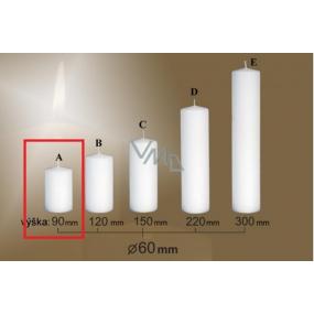 Lima Gastro hladká svíčka bílá válec 60 x 90 mm 1 kus