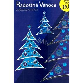 Nekupto Přání k Vánocům Radostné Vánoce modrý stromek