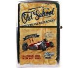 Bohemia Gifts & Cosmetics Retro zapalovač kovový benzínový s potiskem Old School 5,5 x 3,5 x 1,2 cm