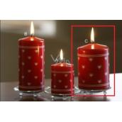 Lima Srdíčko potisk svíčka červená válec 70 x 100 mm 1 kus