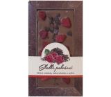 Bohemia Gifts & Cosmetics Sladké pokušení Maliny Ručně vyráběná mléčná, hořká čokoláda 80 g