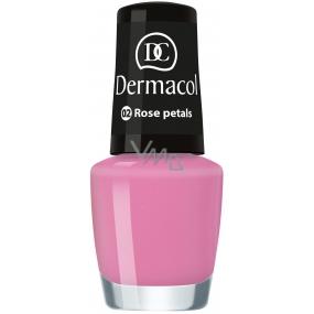 Dermacol Nail Polish Mini Summer Collection lak na nehty 02 Rose Petals 5 ml
