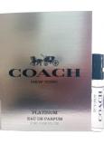 Coach Platinum parfümiertes Wasser für Männer 2 ml mit Spray, Fläschchen
