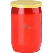 Hřbitovní olejová svíčka červená žluté víčko 29 hodin 100 g
