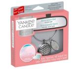 Yankee Candle Pink Sands - Růžové písky vůně do auta kovová stříbrná visačka Charming Scents set Geometric 13 x 15 cm, 90 g