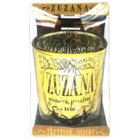 Albi Třpytivý svícen ze skla na čajovou svíčku ZUZANA, 7 cm