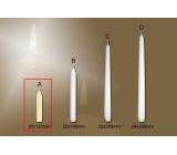 Lima Gastro hladká stolní svíčka slonová kost 20 x 120 mm 4 kusy