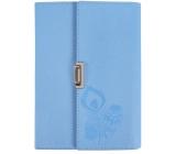 Albi Blok v PU obalu rozkládací, linkovaný modrý 80 listů 14 cm x 19,5 cm x 2,3 cm