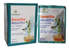 Swastha Amurtha bylinný nápoj na nachlazení, imunitu, játra, klouby, trávení, dýchacích cest, močových cest,duševní i fyzické pohody sáčky 7 x 4 g