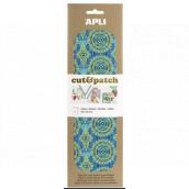 Apli Cut & Patch papír na ubrouskovou techniku Zeleno-modrý motiv 30 x 50 cm 3 kusy