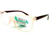 Berkeley Čtecí dioptrické brýle +3,0 plast bílé průhledné mat, vínové postranice 1 kus MC2191