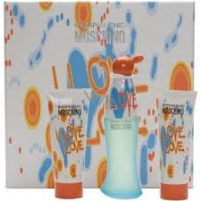 Moschino I Love Love toaletní voda 100 ml + tělové mléko 100 ml + sprchový gel 100 ml, pro ženy dárková sada