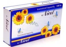 Nicol kosmetické kapesníky 2vrstvé v krabičce 100 kusů