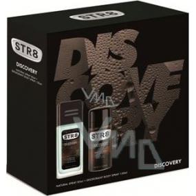 Str8 Discovery parfémovaný deodorant sklo pro muže 85 ml + deodorant sprej 150 ml, kosmetická sada