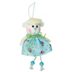 Ovce modrá v květované sukni 15 cm