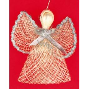 Anděl se stříbrným lemem na křídlech 9 cm