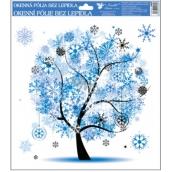 Okenní fólie bez lepidla 4 roční období Zima 33,5 x 30 cm